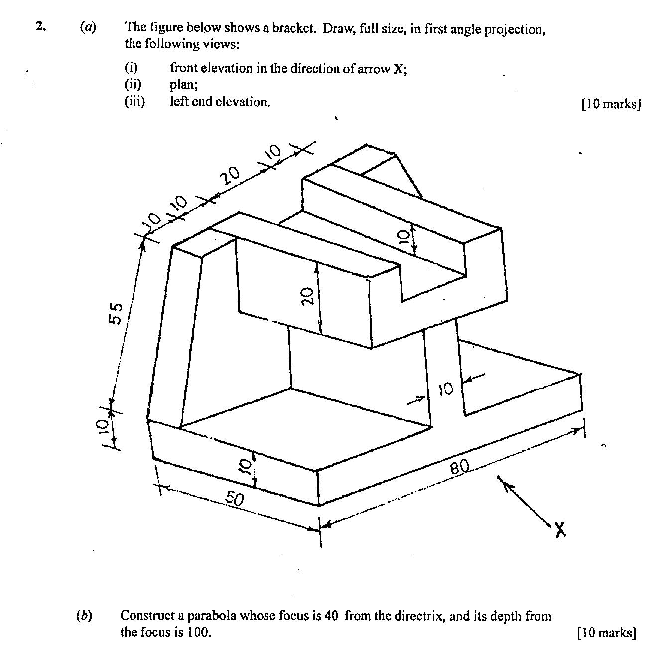 Plan Elevation Projection : Technical drawing paper may june