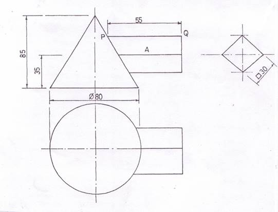 Technical Graphics Elevation Plan End View : Technical drawing paper may june