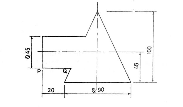 Plan And Elevation Of Cylinder : Technical drawing paper nov dec