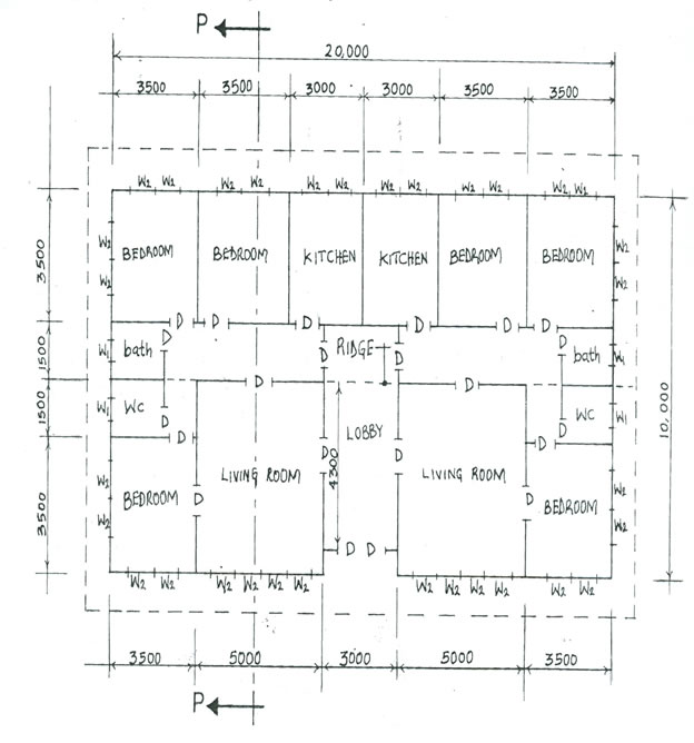 Technical drawing 3 mayjune 2015 4 the sketch below shows the floor plan of a twin three bedroom bungalow in the line diagram study the given specifications and answer the questions that ccuart Images